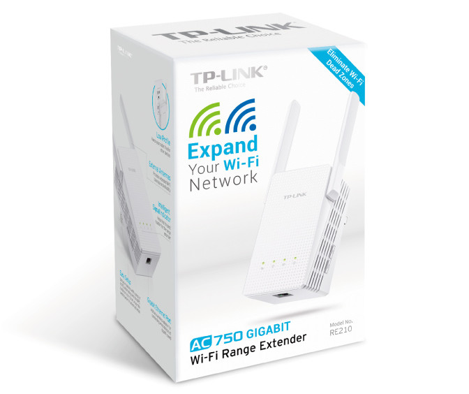TP-LINK Announces Availability of the RE210 AC750 Wi-Fi
