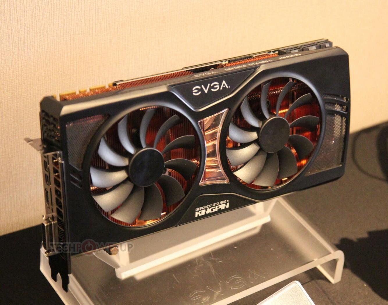 Placa de vídeo GeForce GTX 980 Ti Kingpin overclock 2,200MHz