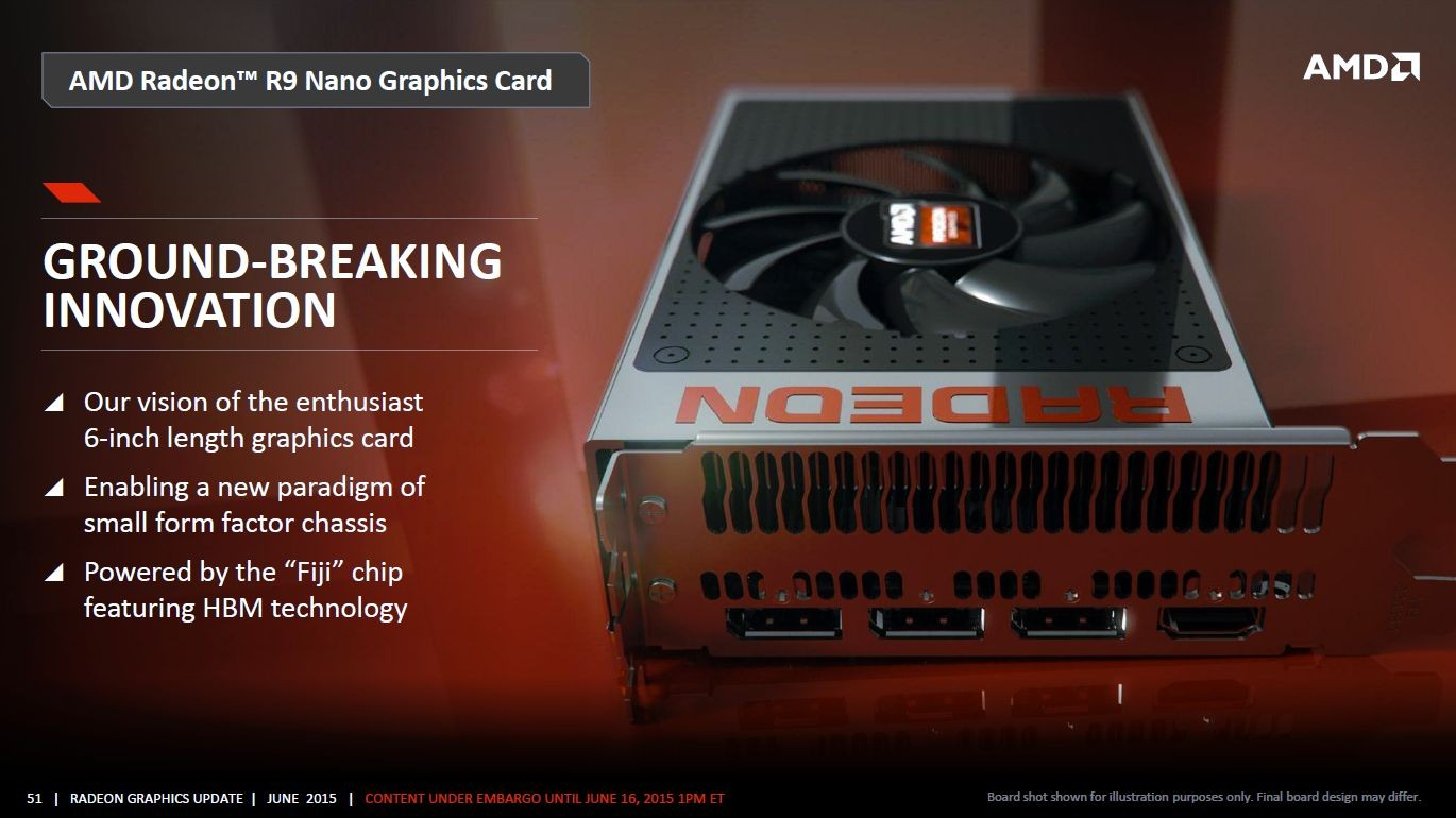 AMD Radeon R9 Nano to Feature a Single PCIe Power Connector