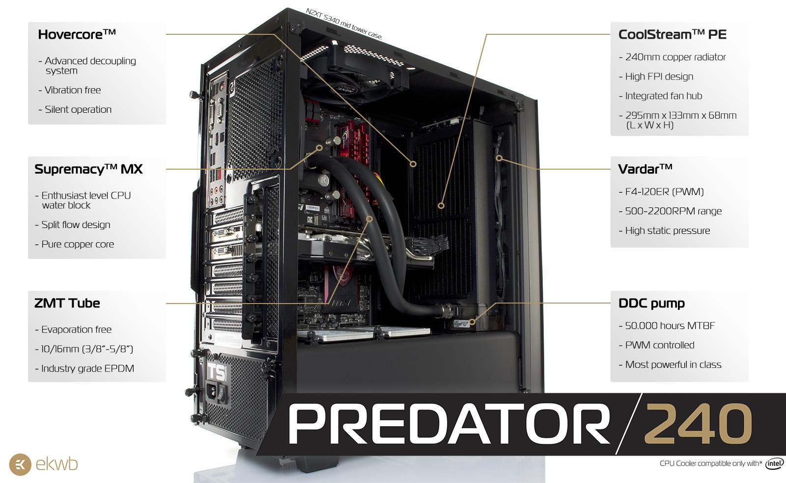 Ek Water Blocks Announces Ek Predator Aio Cpu Cooler