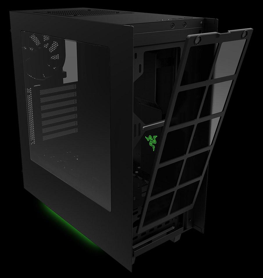 Razer announces custom designed nzxt s340 pc case for Case design