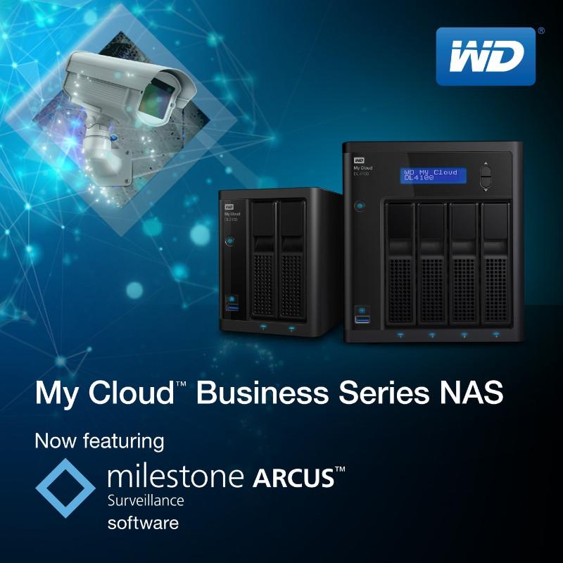 WD to Bundle Milestone Arcus Surveillance Software with My Cloud NAS