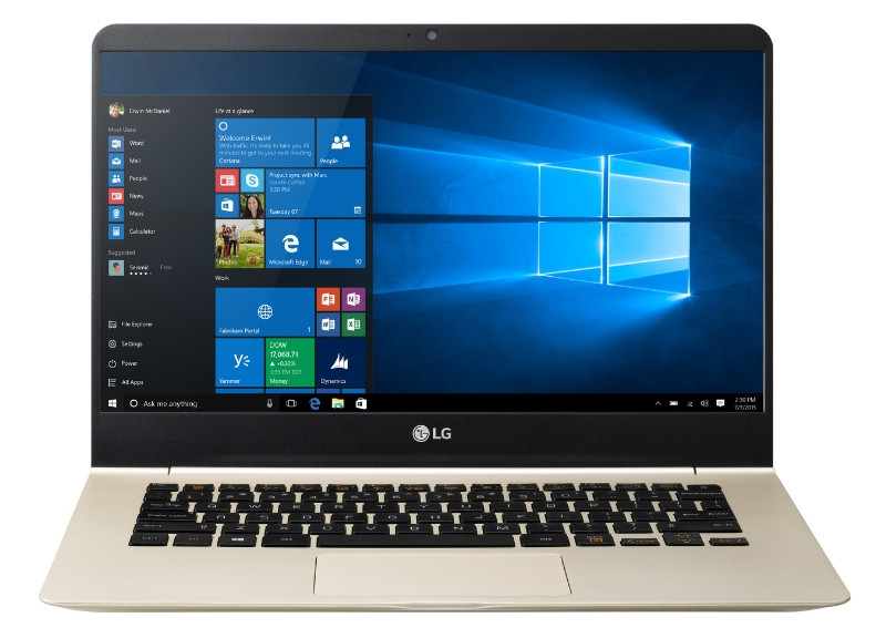 LG Electronics Makes Laptop Debut In U S  With Windows 10 'Gram