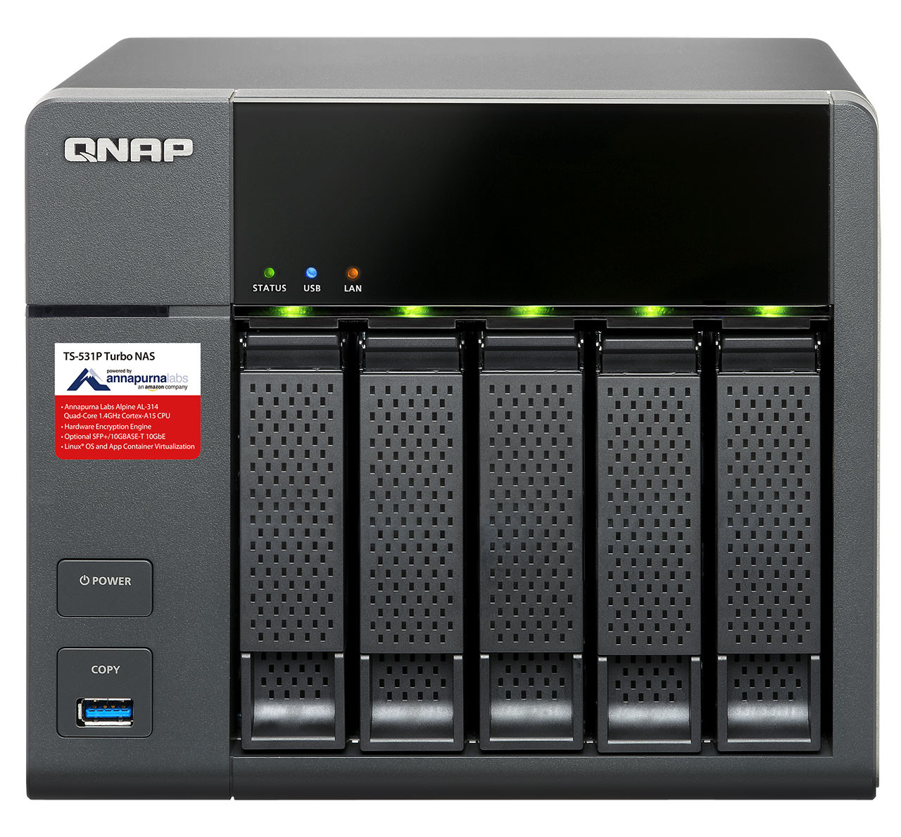 QNAP Launches the Powerful Quad-core TS-531P With 10GbE Support
