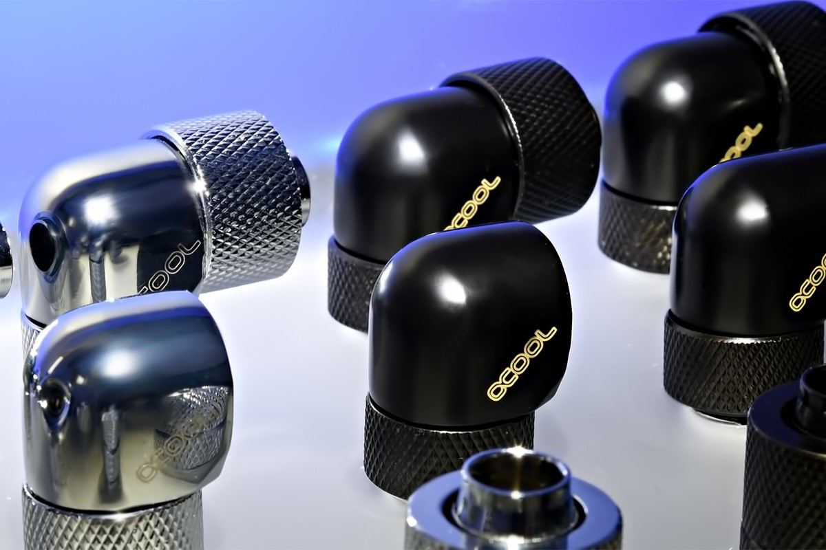 alphacool fittings  AlphaCool Presents 34 New Eiszapfen Series Liquid Cooling Fittings ...