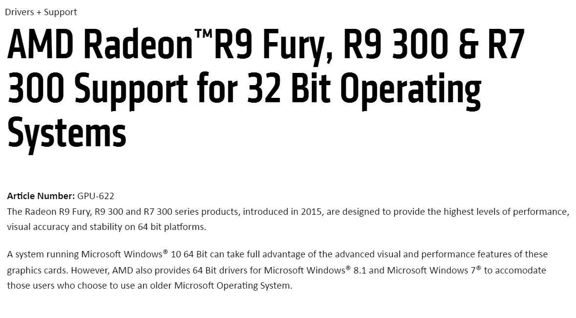 Amd Preparing To Drop 32 Bit Support For Radeon Drivers Techpowerup