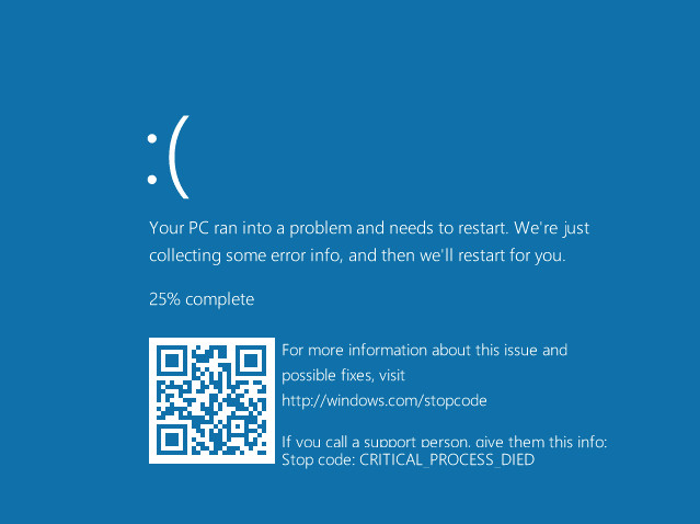 Windows 10 BSOD Errors to Come with Troubleshooting QR-Codes