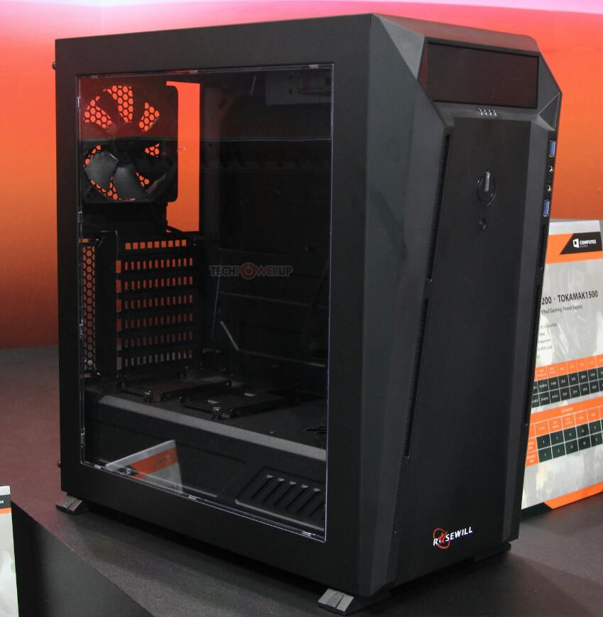 Rosewill Gram Entry Level Mid Tower Case Pictured