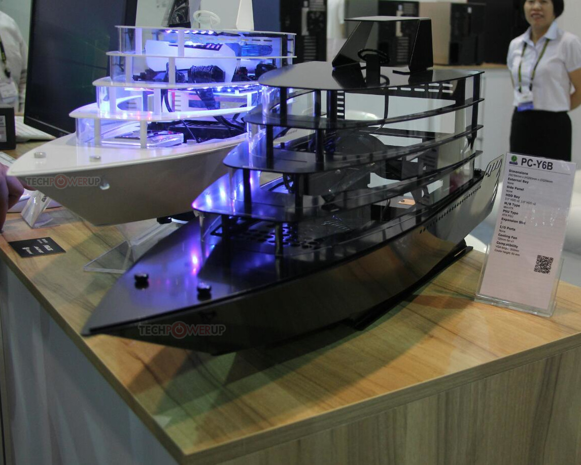 A Yacht Shaped Case From Lian Li This Computex Techpowerup