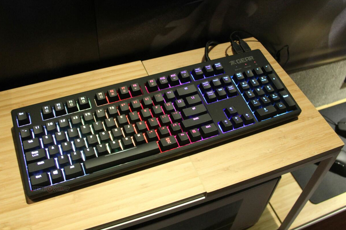 fnatic gear rush g1 mechanical keyboard gets the rgb led treatment techpowerup. Black Bedroom Furniture Sets. Home Design Ideas