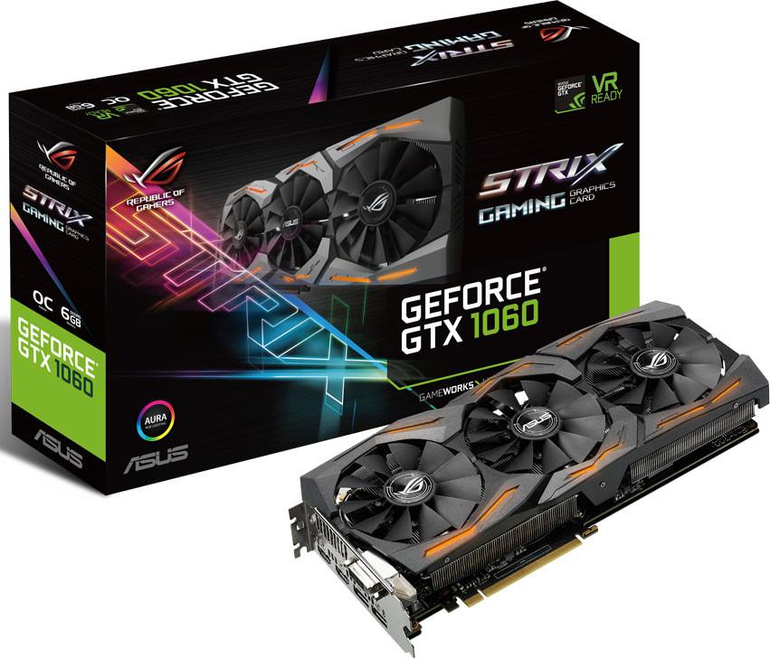ASUS Announces the GeForce GTX 1060 STRIX Graphics Card