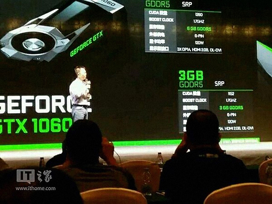 NVIDIA GeForce GTX 1060 3GB Equipped with Fewer CUDA Cores