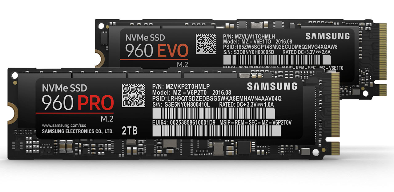 Samsung Announces The 960 Pro And Evo Series M2 Nvme Ssds Sm961 2280 Pcie Ssd 1tb