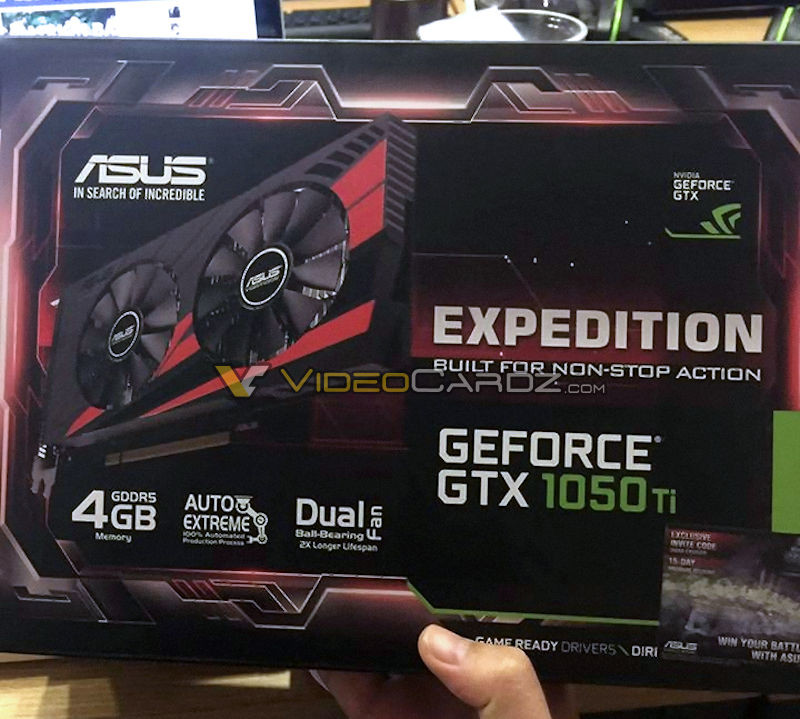 ASUS GeForce GTX 1050 Ti Expedition Graphics Card Pictured