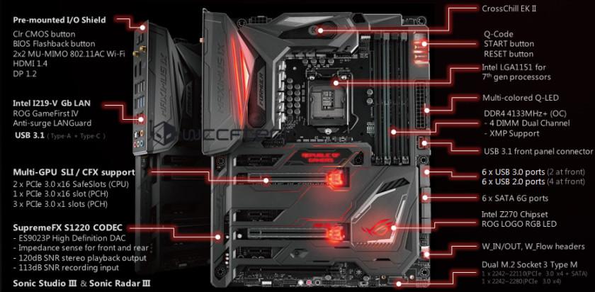 ASUS LGA 1151 MAXIMUS IX FORMULA Intel Z270 ATX Motherboard Black