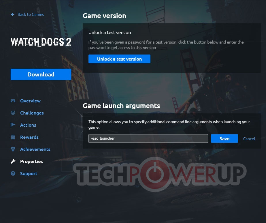 Watch Dogs  Launch Arguments
