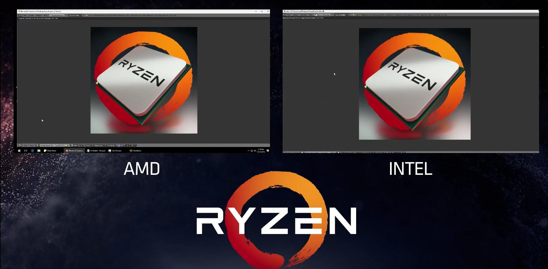 Amd Ryzen Demo Event Beats 1 100 8 Core I7 6900k With Lower Tdp Techpowerup