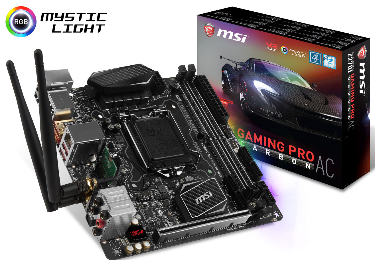 Msi Z270 Gaming Pro Carbon Hd Wallpaper: MSI Announces Its Intel 200-series Motherboard Family