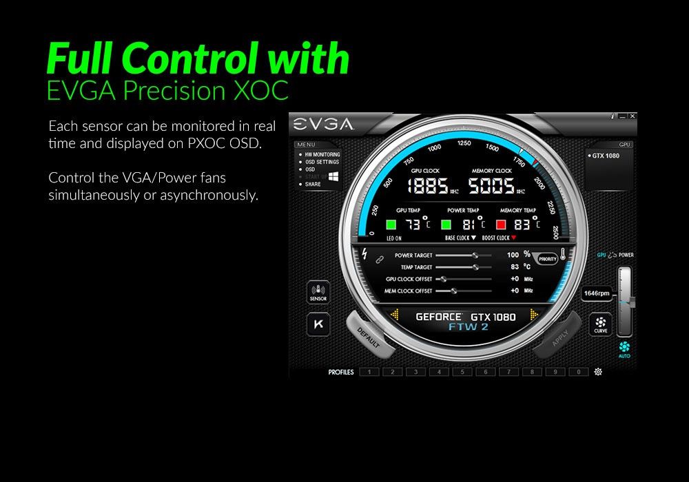 EVGA Introduces its iCX Technology Suite - 9 Sensors on the Card