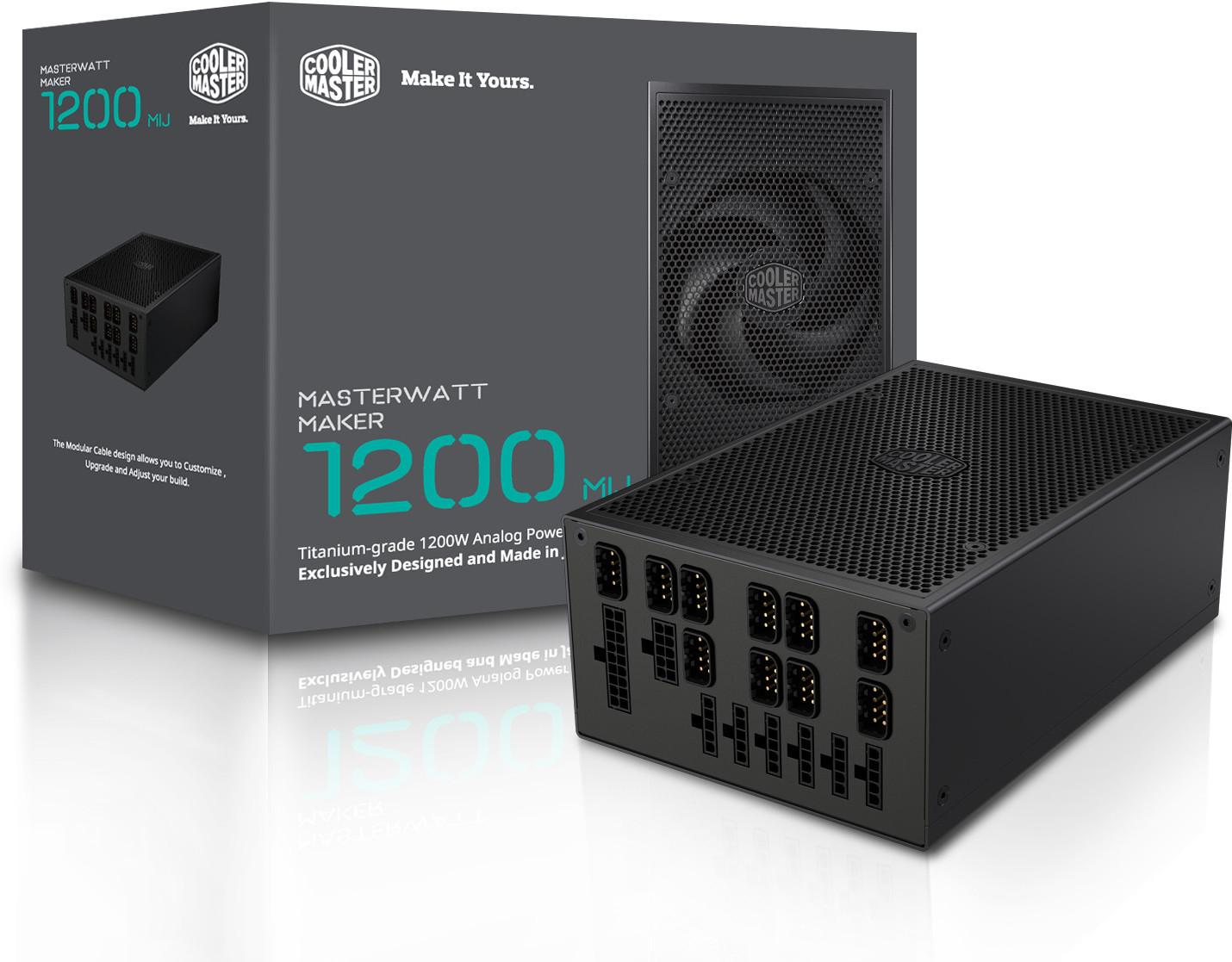 Cooler Master Announces the MasterWatt Maker 1200 MIJ Power Supply ...
