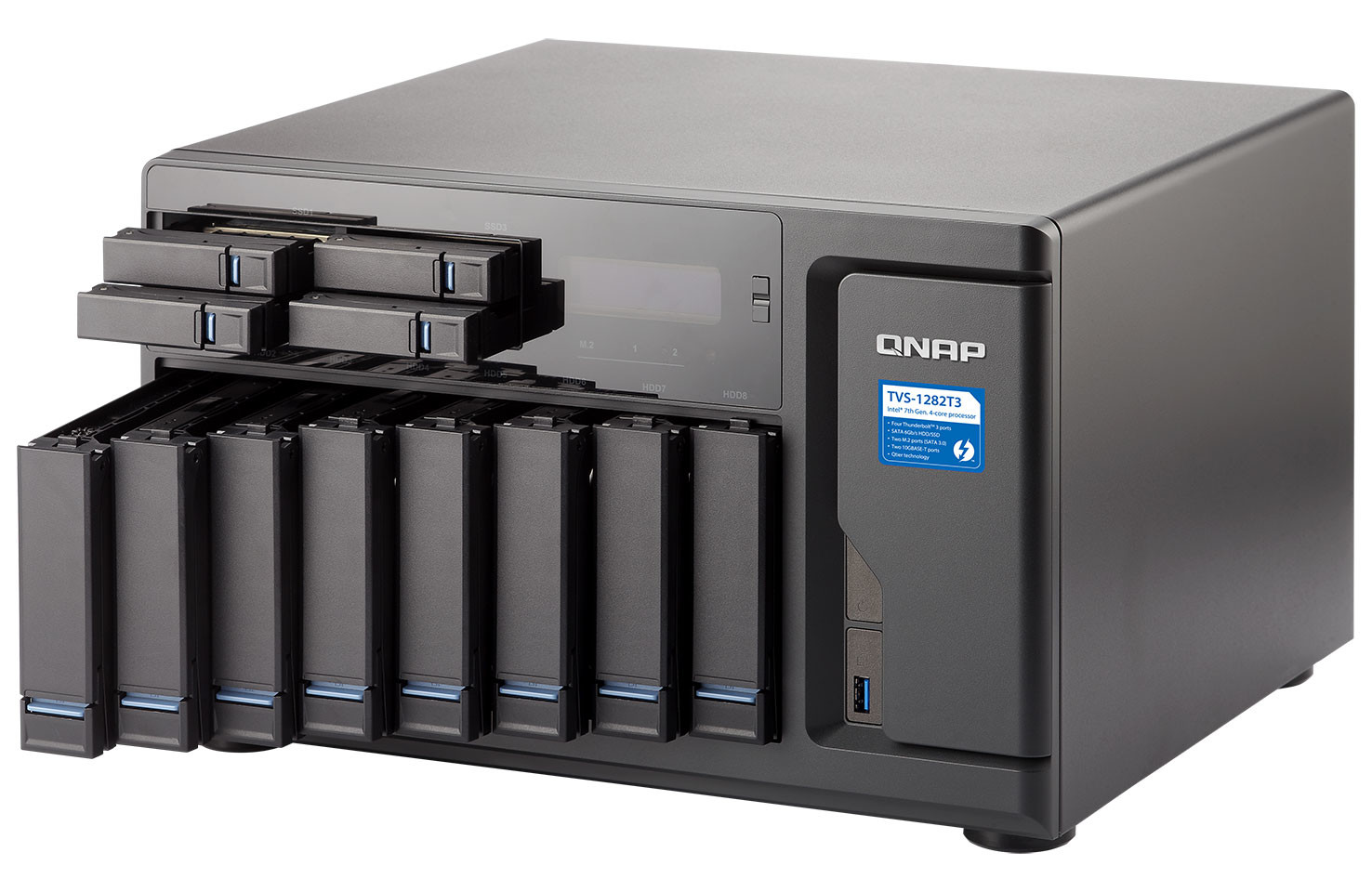 QNAP Rolls Out New TVS-1282T3 Thunderbolt 3 NAS | TechPowerUp