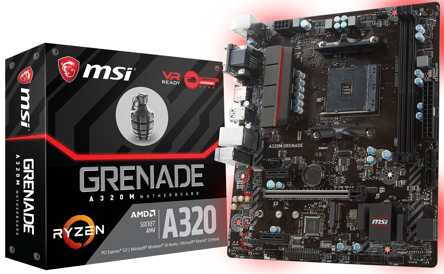 MSI Intros the A320 Grenade Socket AM4 Motherboard