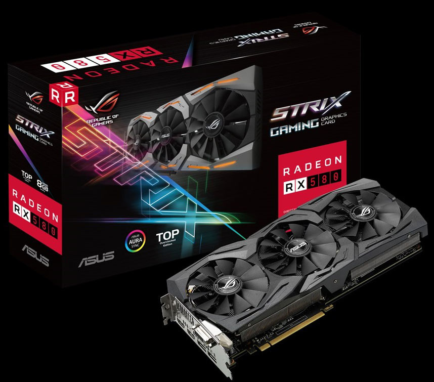 ASUS Announces its Radeon RX 580 and RX 570 STRIX and Dual-X