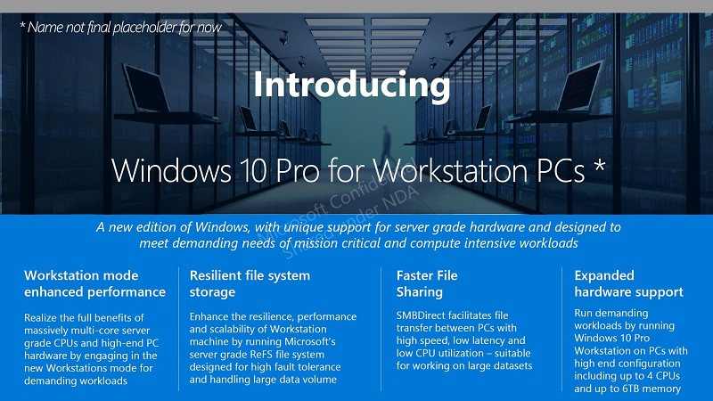 Microsoft to Introduce Windows 10 Pro for Workstation PCs   TechPowerUp
