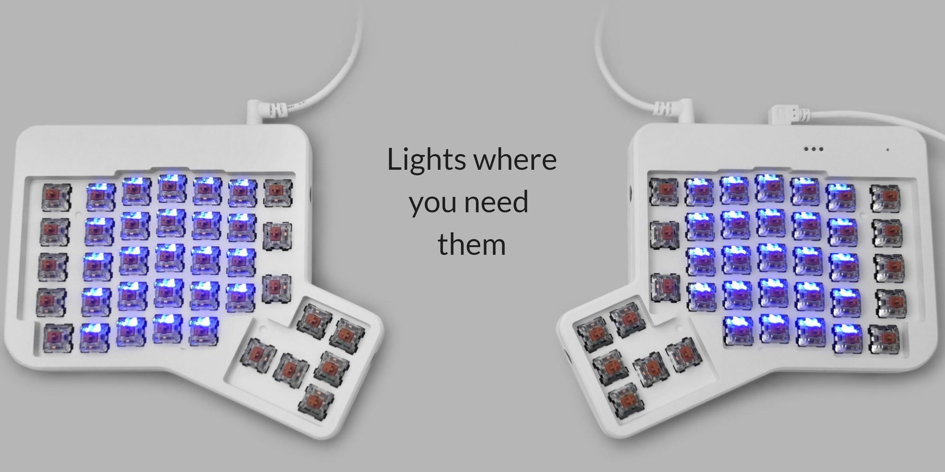 ErgoDox EZ Introduces the Glow: An RGB Backlit, Pre