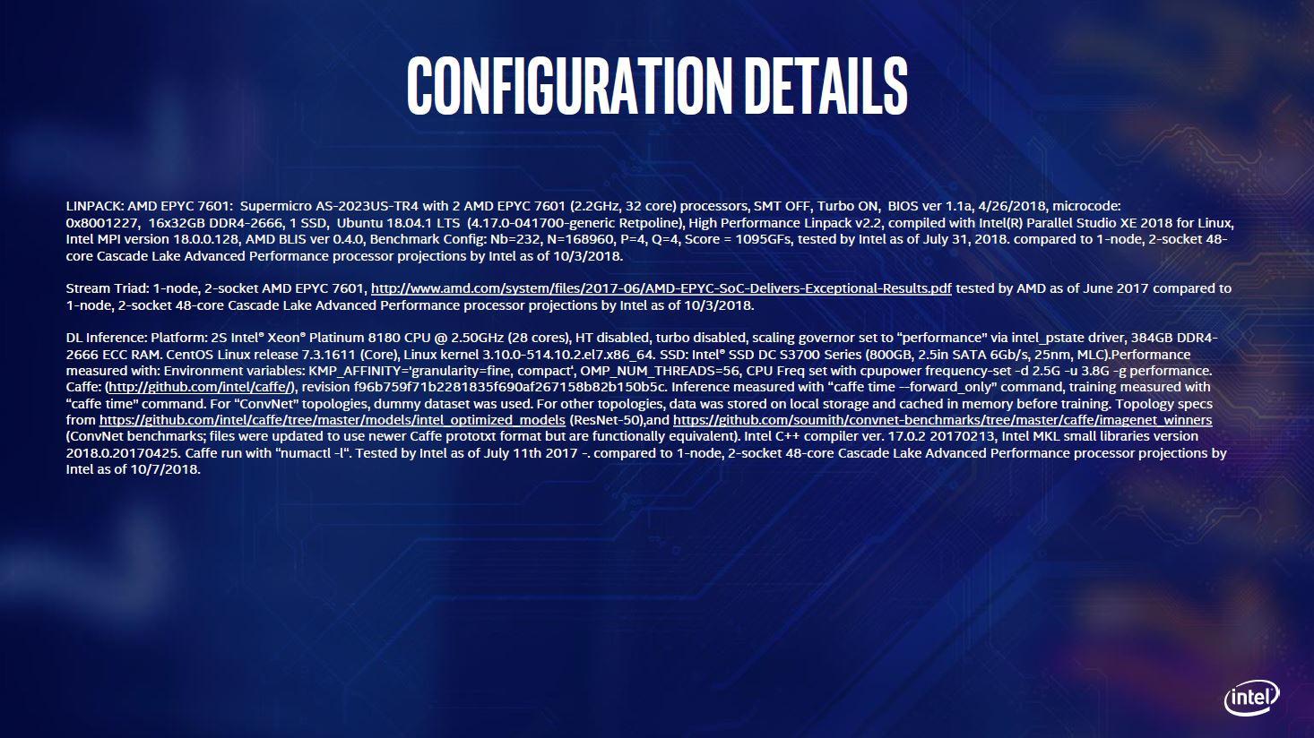 Intel Announces Cascade Lake Advanced Performance and Xeon E