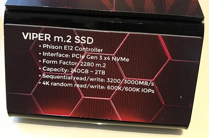 Patriot Showcases Its Viper M 2 SSDs Sporting Phison's E12