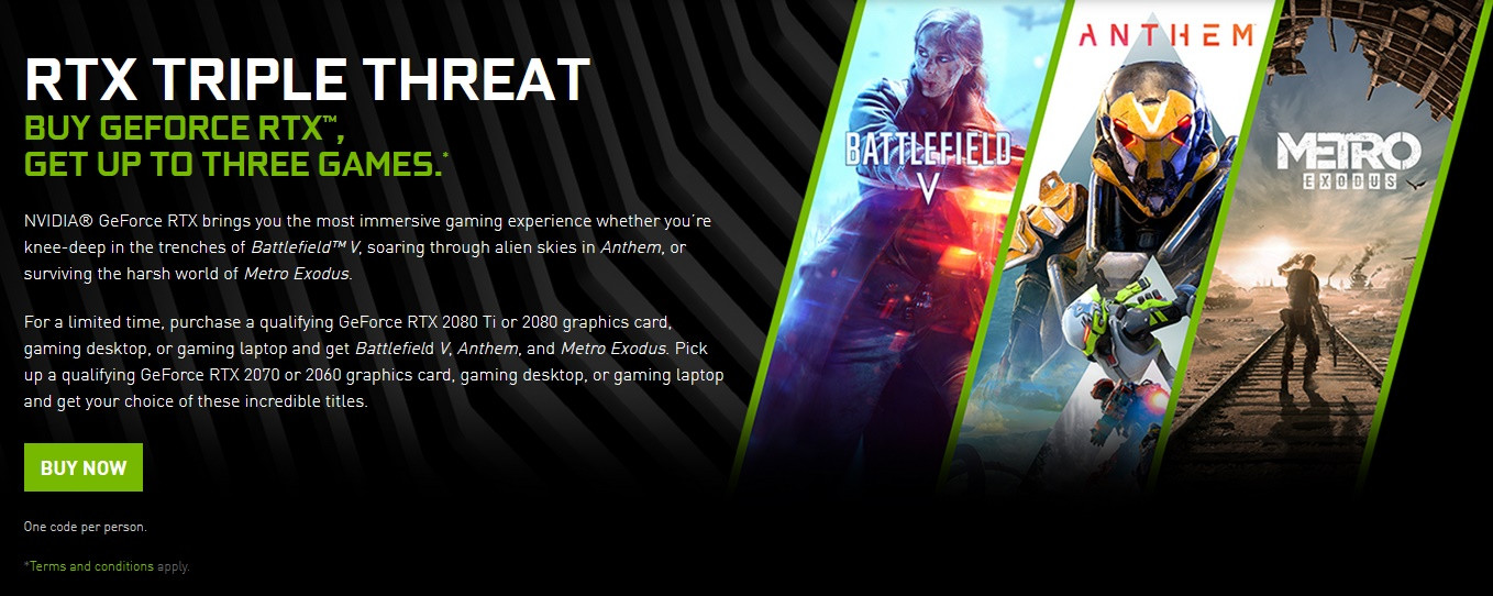 NVIDIA Updates RTX Game Bundle - Now Also Includes Metro