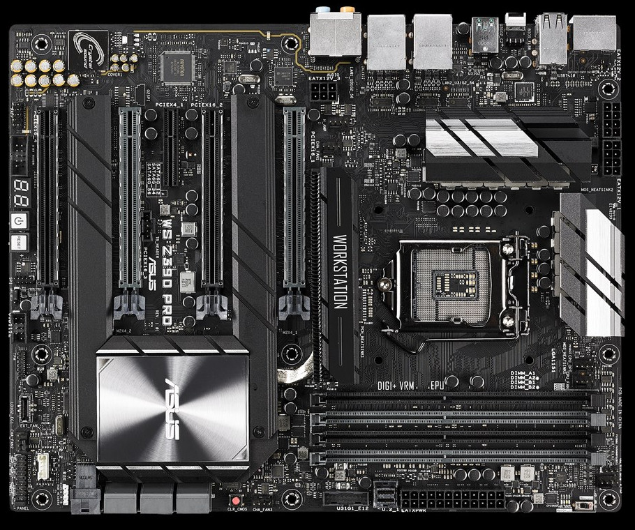ASUS Intros WS Z390 Pro Motherboard with Dual x16 PCIe Bridge Chip