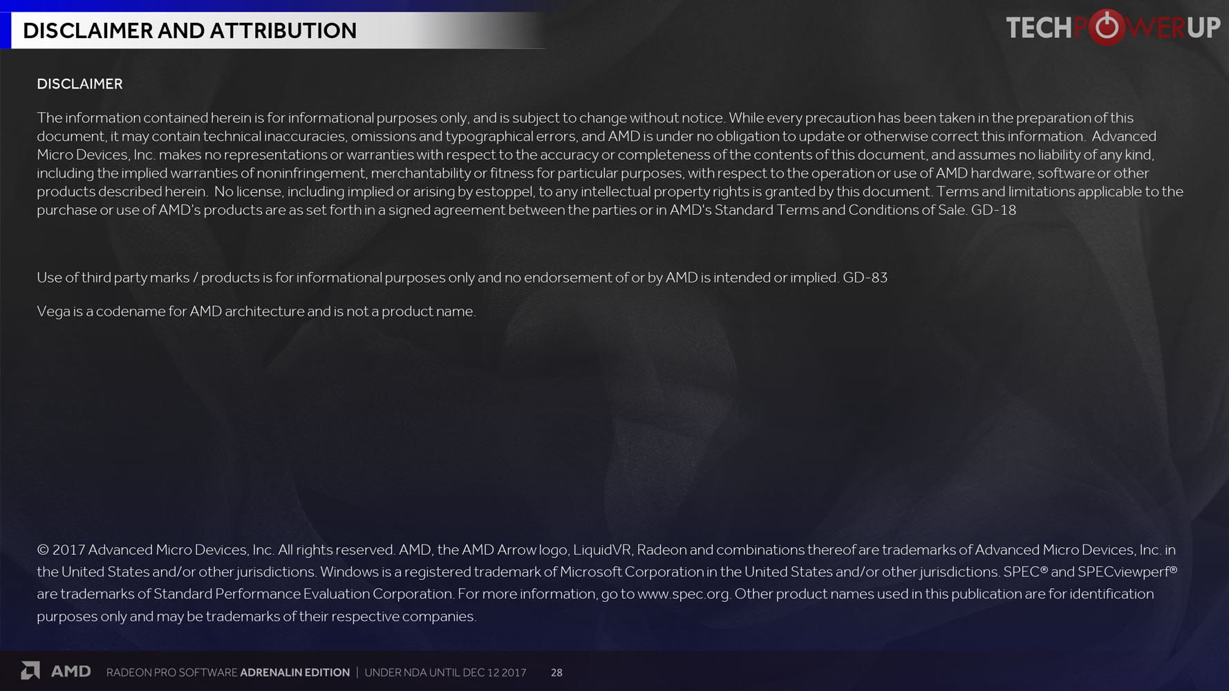 AMD Radeon Pro Adrenalin Edition 17 12 1 Drivers Detailed | TechPowerUp
