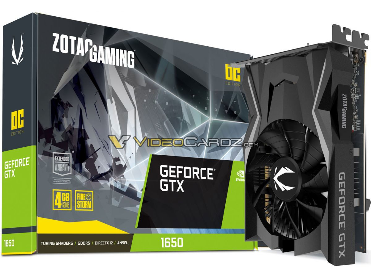 NVIDIA GeForce GTX 1650 Specifications and Price Revealed