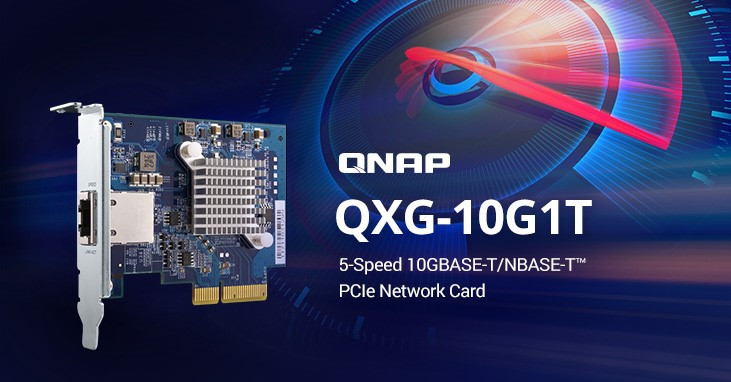 QNAP Unveils the QXG-10G1T, a 5-Speed 10GBASE-T NIC for NAS