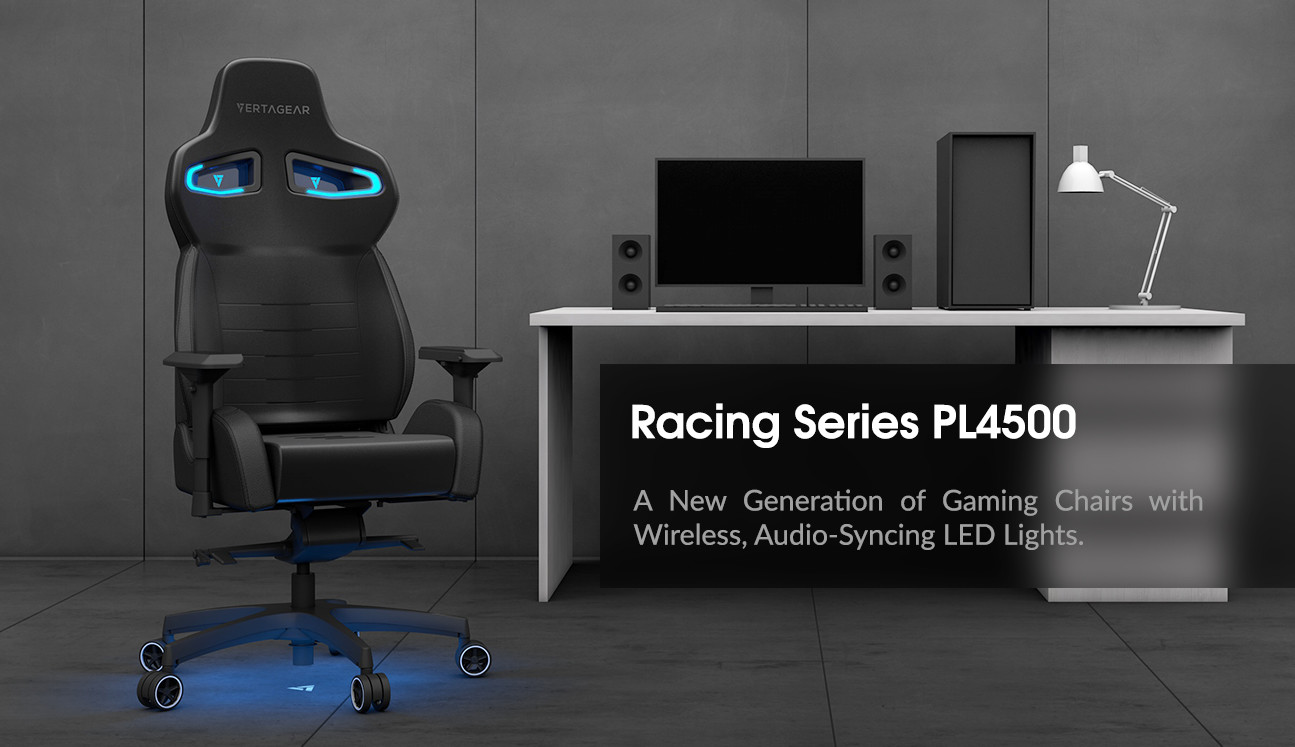 ... Further Merging The World Of Technology And Gaming Chairs. The PL4500  LED Lights Include Wireless Control; Audio Syncing; Full Spectrum RGB  Lighting; ...