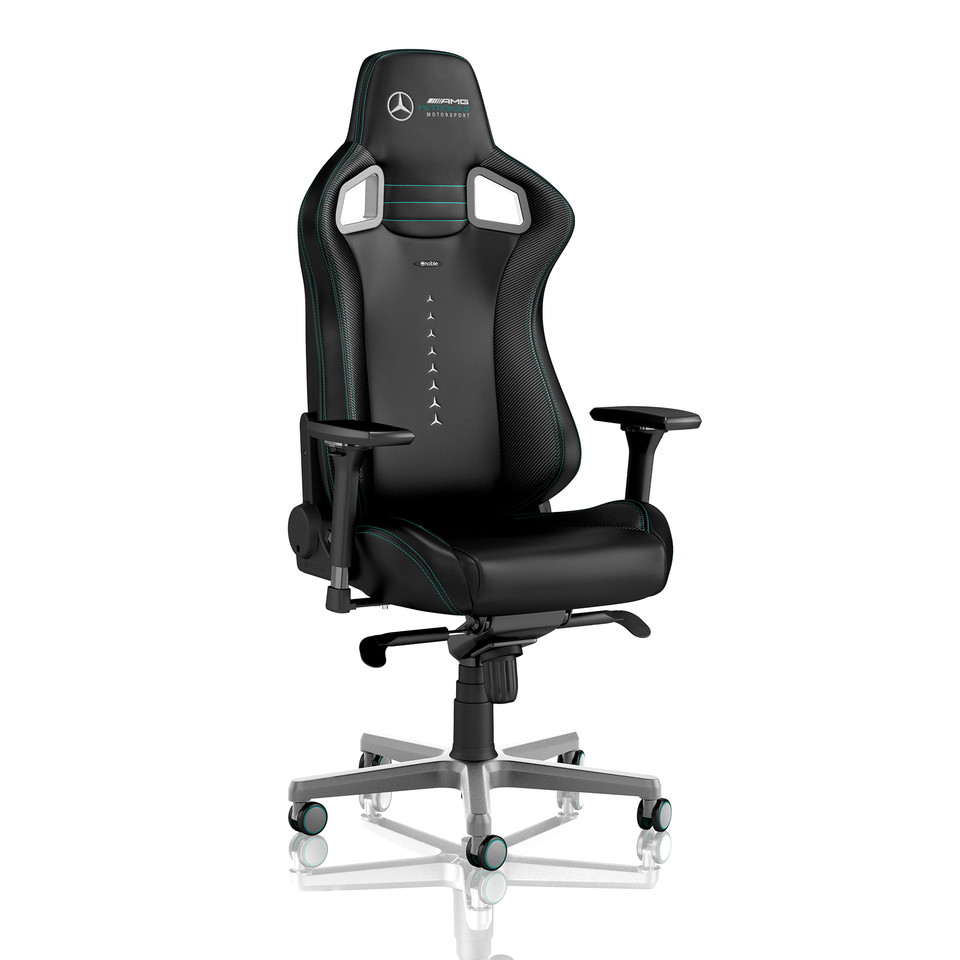 Magnificent Noblechairs Introduces Mercedes Amg Petronas Licensed Gaming Evergreenethics Interior Chair Design Evergreenethicsorg