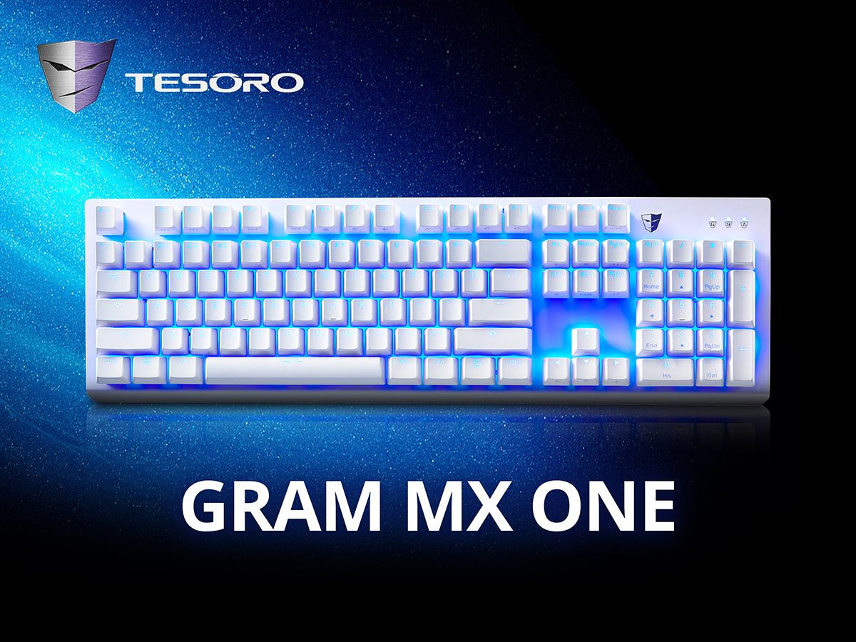 145733bcbdb ... of the Gram MX One is $79.99 as per Tesoro, and at launch the model  available for purchase will be the white color, MX Brown switch variant  only.