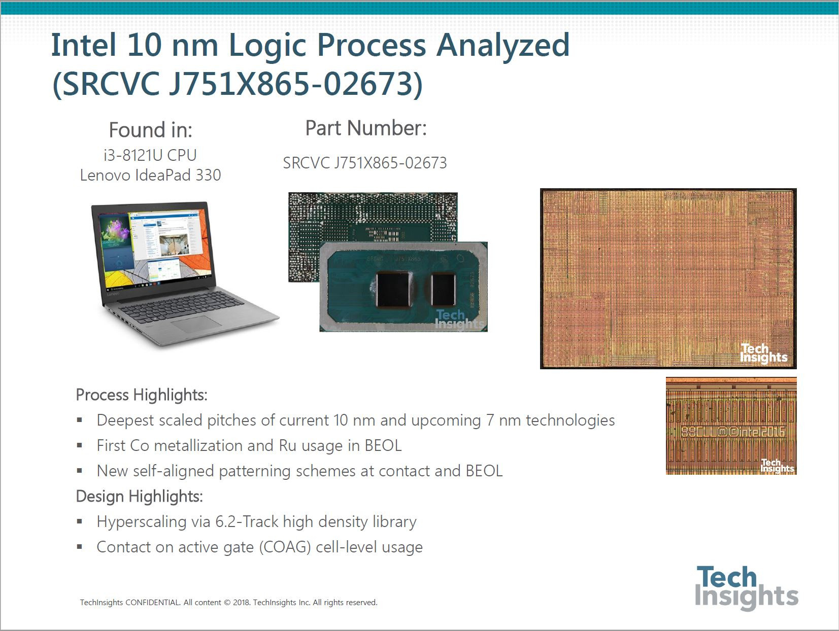 Intel 10 nm Process Increases Transistor Density by 2 7x Over 14 nm