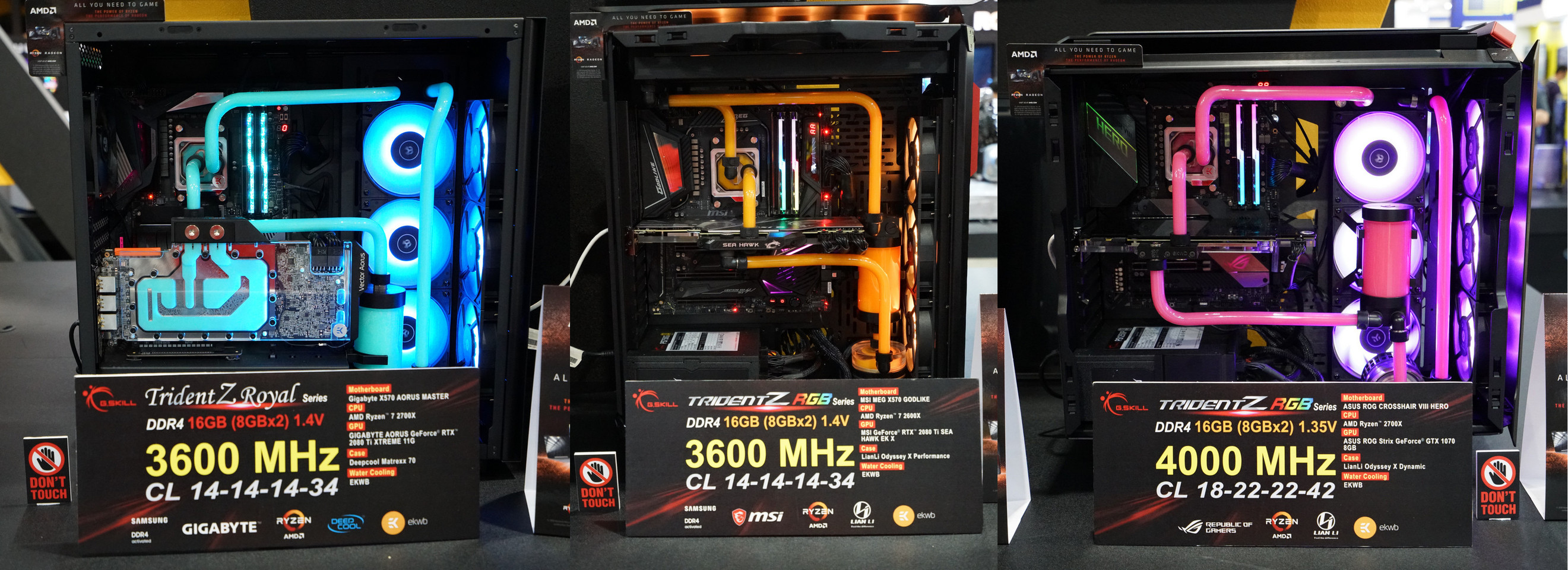 G SKILL Showcases Extreme DDR4 at Computex 2019, Up to DDR4-4000