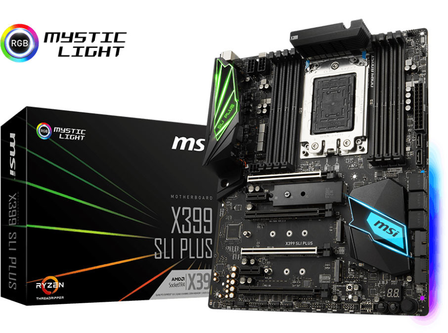 MSI Launches the X399 SLI Plus Motherboard for AMD Ryzen