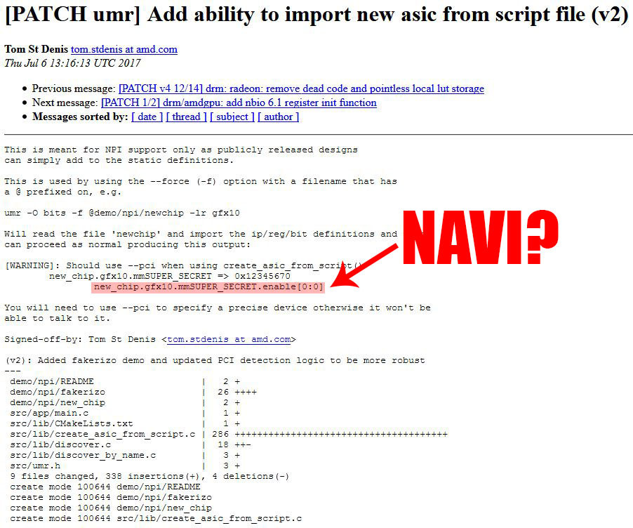 AMD Navi Found Secretly Hiding in Linux Drivers | TechPowerUp Forums