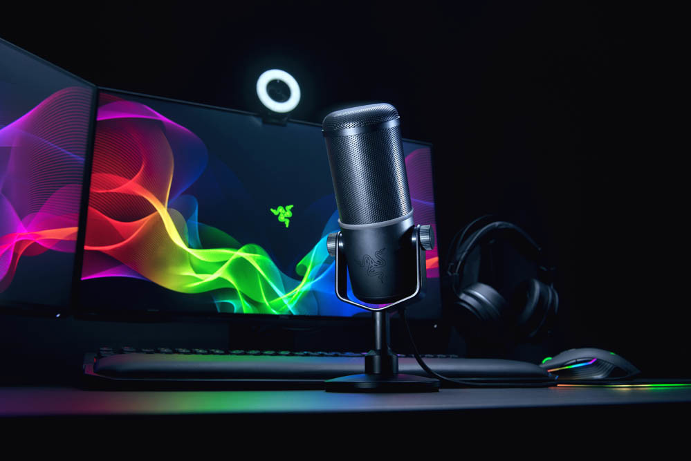 razer unveils new seiren elite microphone designed for streamers techpowerup. Black Bedroom Furniture Sets. Home Design Ideas