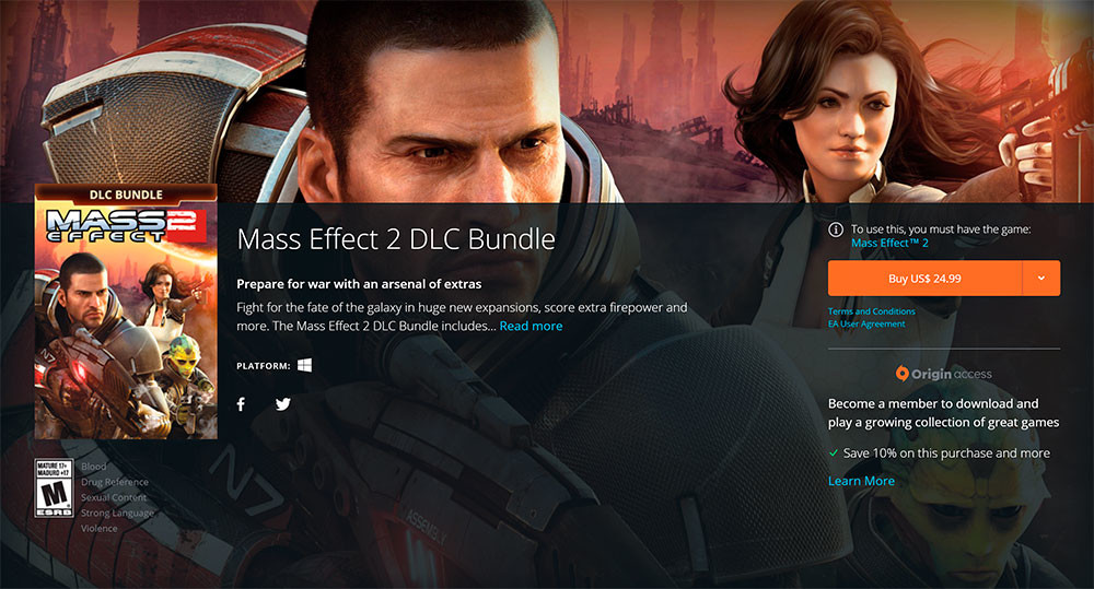 how to download dlc for mass effect 2