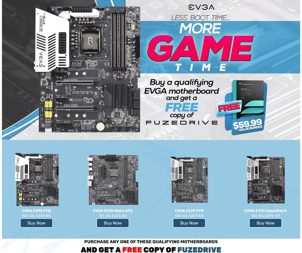 EVGA Bundles Enmotus FuzeDrive with Select Motherboards | TechPowerUp