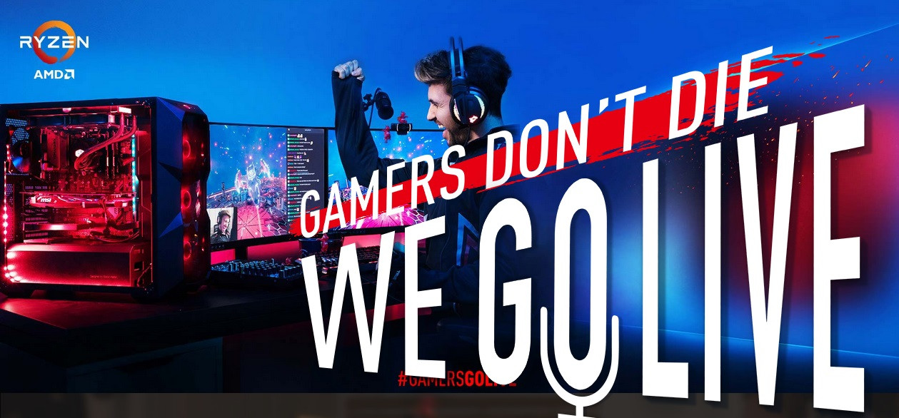 MSI Announces #GamersGoLive Initiative with AMD, Cooler