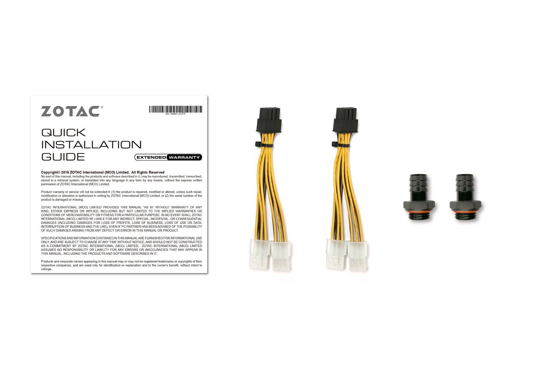 Zotac Announces Liquid-Cooling Ready GeForce RTX 2080 Ti