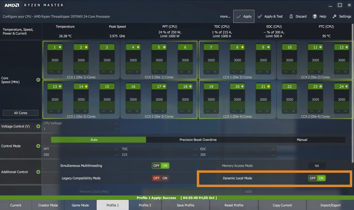 AMD Introduces Dynamic Local Mode for Threadripper: up to 47