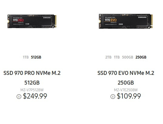 Samsung Introduces 970 Evo Pro Ssds At Lower Pricing Than